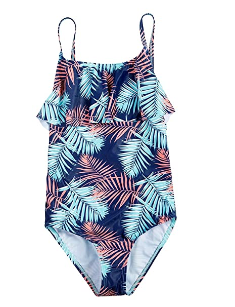 Amazon.com: maysoul Niñas Con Flecos traje de baño de una ...