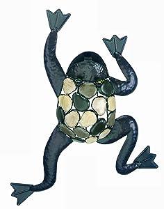 "Gardman 8423 Climbing Frog with Natural Stones Wall Art, 15"" Long x 21"" Wide"