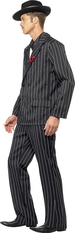 Smiffys Traje de los 40, hombre, incluye chaqueta con rosa en la ...