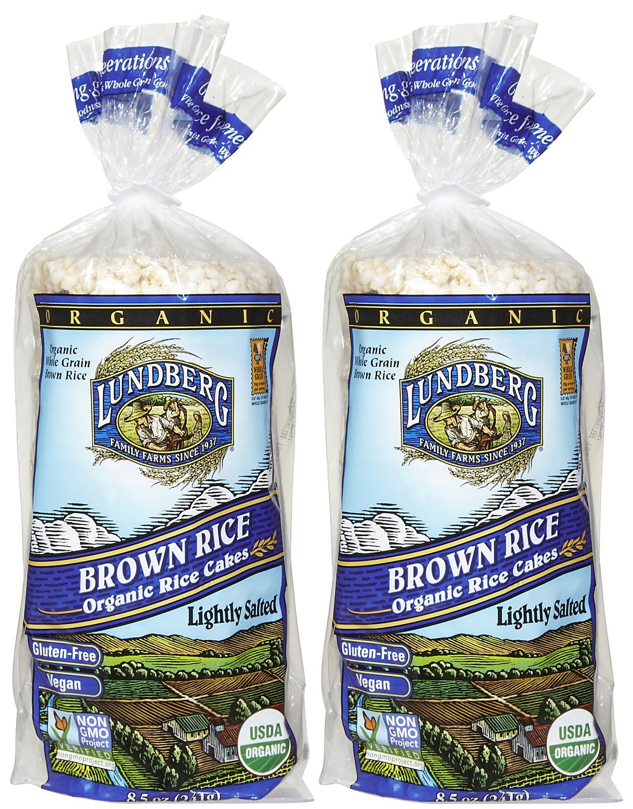 Lundberg Organic Brown Rice Cakes Lightly Salted -- 8.5 oz