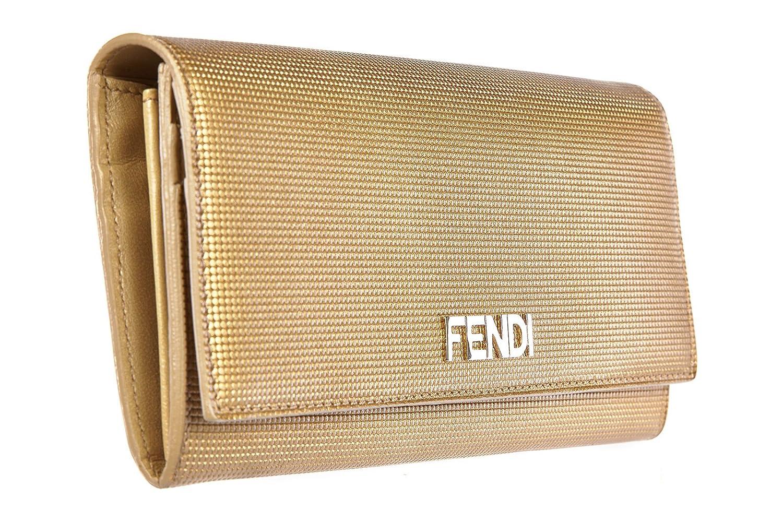 Fendi mujer monedero de la cartera en piel nuevo oro: Amazon.es: Zapatos y complementos
