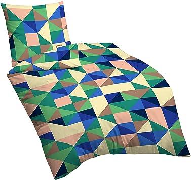 135 x 200 cm Suenos Bettw/äsche Baumwolle Blau