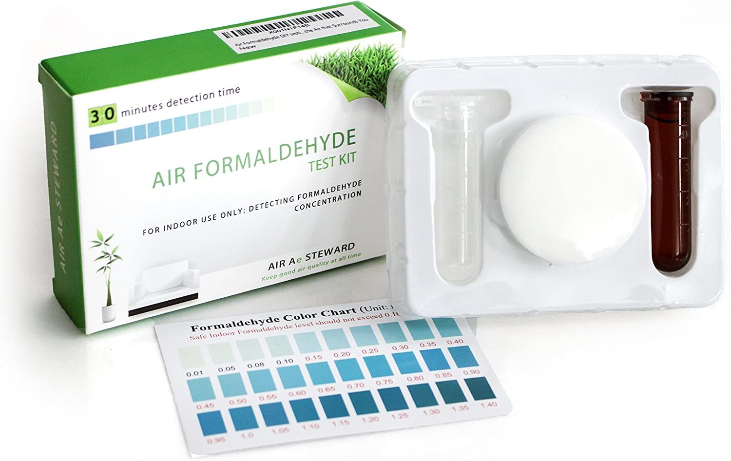 Air Formaldehyde (HCHO) DIY Test kit - Know What's in The Air That Surrounds You (Pack of 1)
