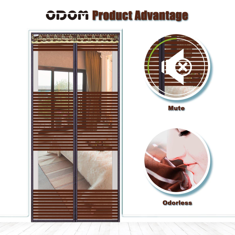 Odom Magnetic Screen Door Odorless Reinforced Fits Door Up To 34 X82