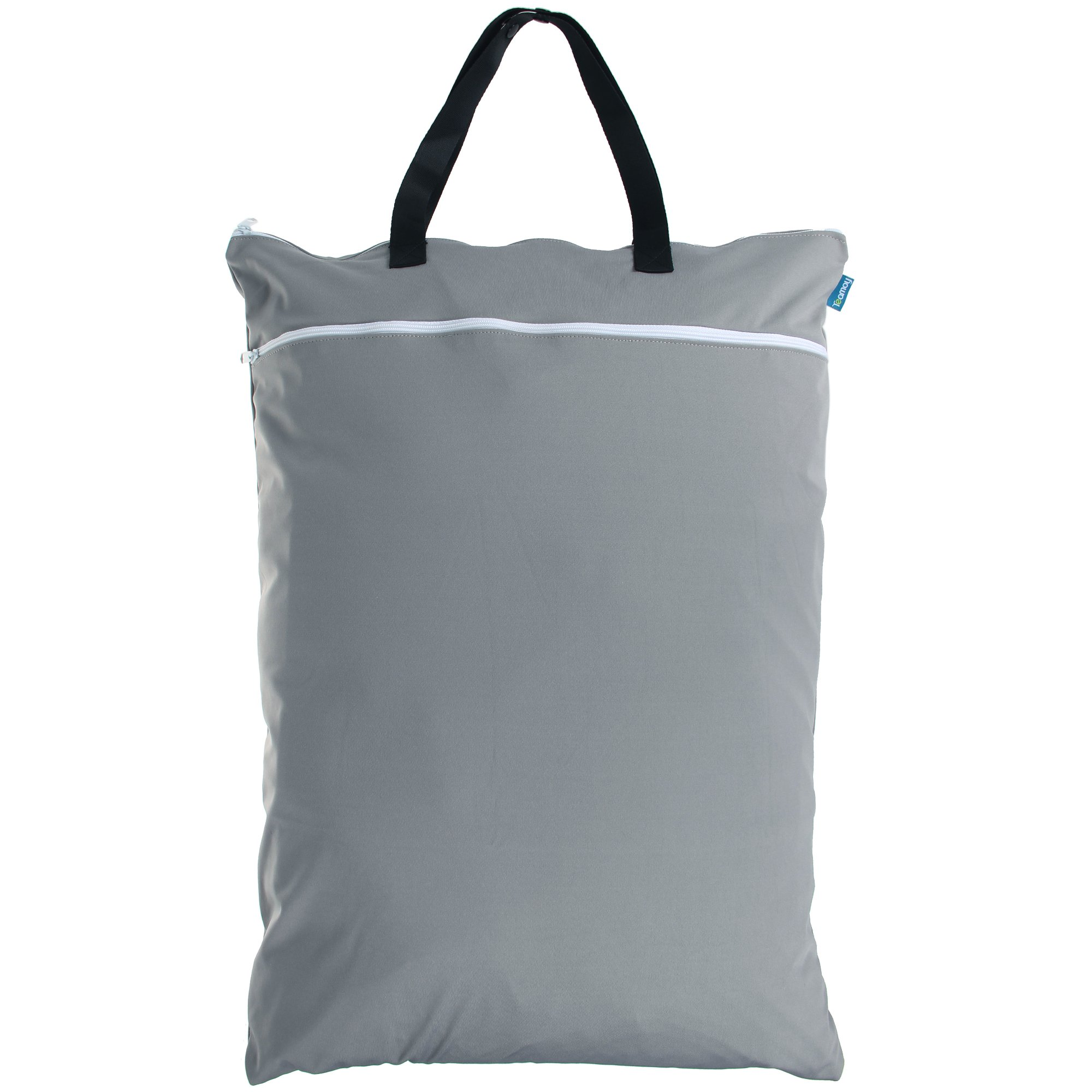Teamoy Travel Hanging Wet Dry Bag(24.7×18 inches) for Cloth Diapers Organizer Tote Bag (XL, Slate)