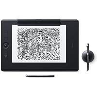 Wacom Intuos Pro Paper Edition Stifttablett Größe L – Grafiktablett mit Papierklemme inkl. Wacom Pro Pen 2 Eingabestift mit verschiedenen Spitzen & Wacom Finetip Pen – Kompatibel mit Windows & Apple