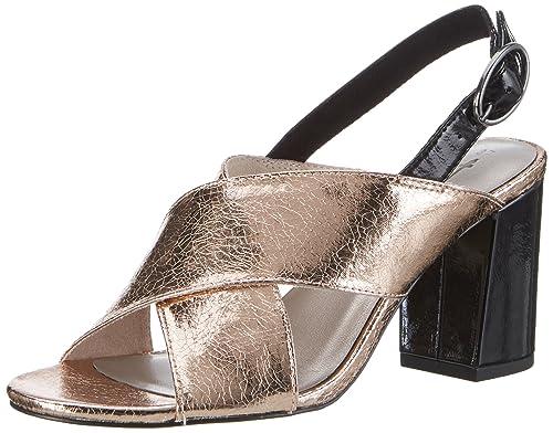 Tamaris Damen 28395 Offene Sandalen mit Keilabsatz