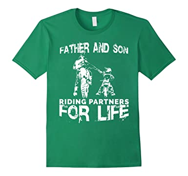 06e6ed921 Men's Father And Son Riding Partners For Life T-shirt Dads Sons 2XL Kelly  Green