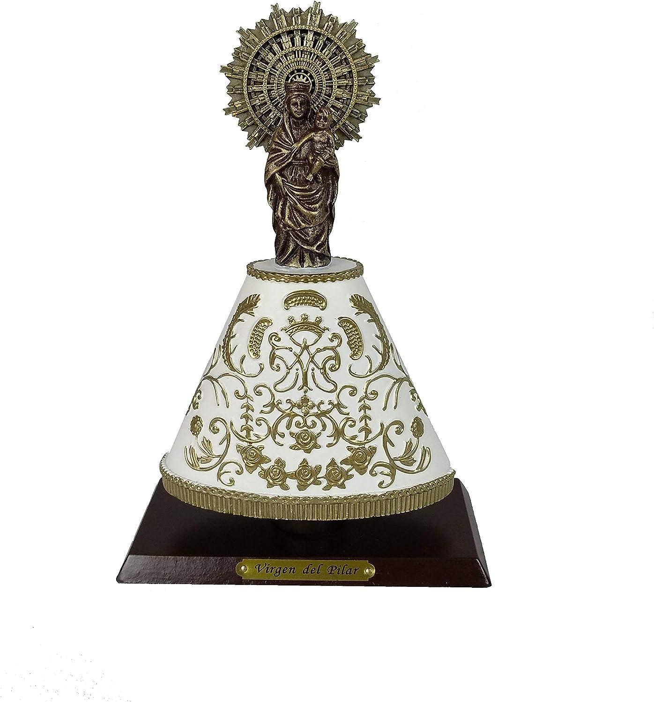 DRW Figura de la Virgen del Pilar de Resina 20 cm (con Manto): Amazon.es: Hogar