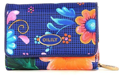 Oilily Russian Rose S - Monedero, diseño estampado, color azul