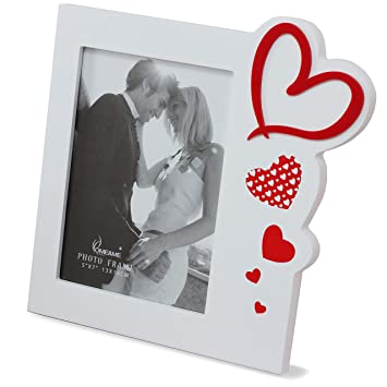 Amazoncom Talented Things 5x7 Wooden Photo Frame In White With