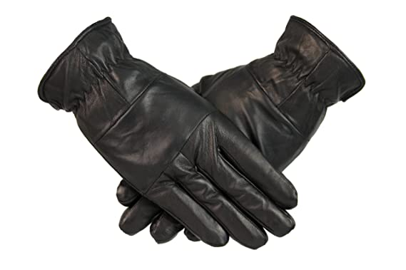 5a69486590252 Mens Leather Gloves 100% Genuine Leather Fleece Lined Quality Winter Gloves  Warm Christmas Gift (