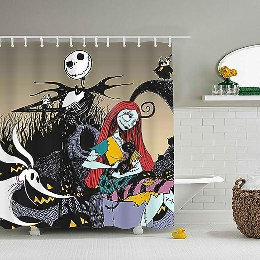 Amazon.com: Btsyera Modern Decor Shower Curtain, Nightmare Before