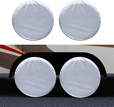 "4 X Anti-UV Wheel Tire Covers For RV Motorhome Camper Car Truck  40/""-42/"" 6W"