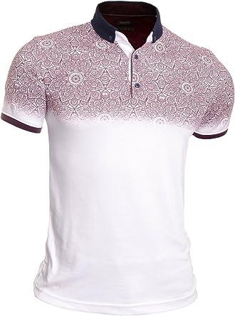 Hombre Camiseta Polo Camisa Casual Manga Corta Algodón Suave Patrón de Paisley: Amazon.es: Ropa y accesorios