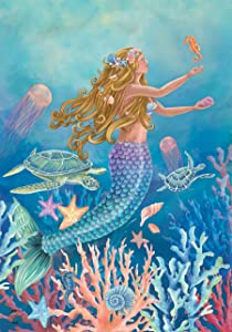 "Briarwood Lane Mermaid Summer House Flag Nautical Fish 28"" x 40"""