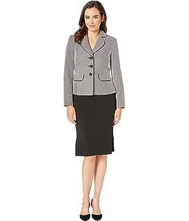 Amazon.com: Le Suit mujer three-button Juego de traje ...