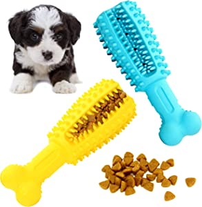 Youngever 2 Pack Dog Treat Toys for Pet Teeth Cleaning, Chewing, Fetching, IQ Treat Food Dispensing Toys (Small 4.8 inch)