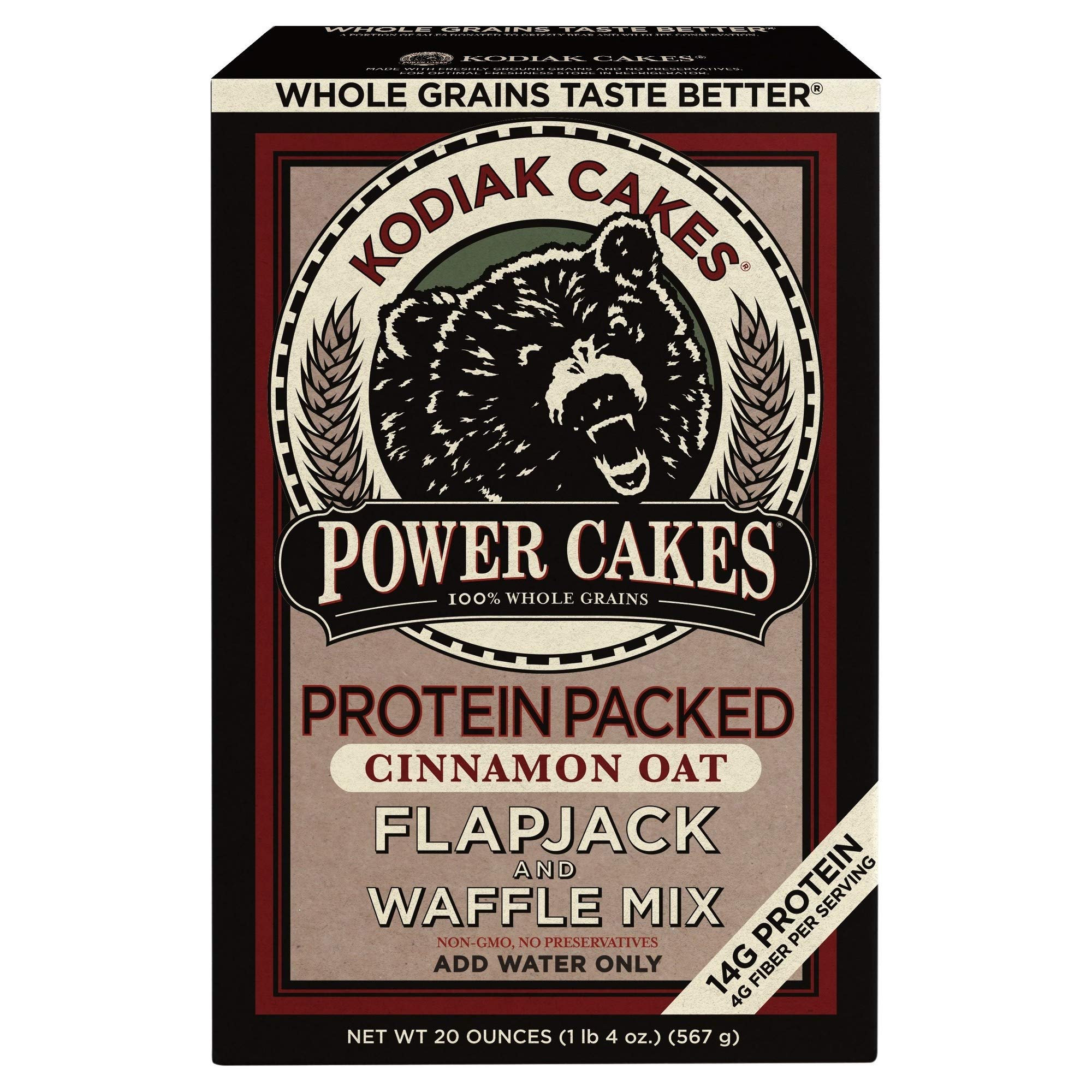 Power Cakes Cinnamon Oat Flapjack & Waffle Mix (Pack of 16) by Generic (Image #2)