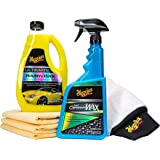 MEGUIAR'S G55163 Premium Wash & Hybrid Ceramic Wax Kit
