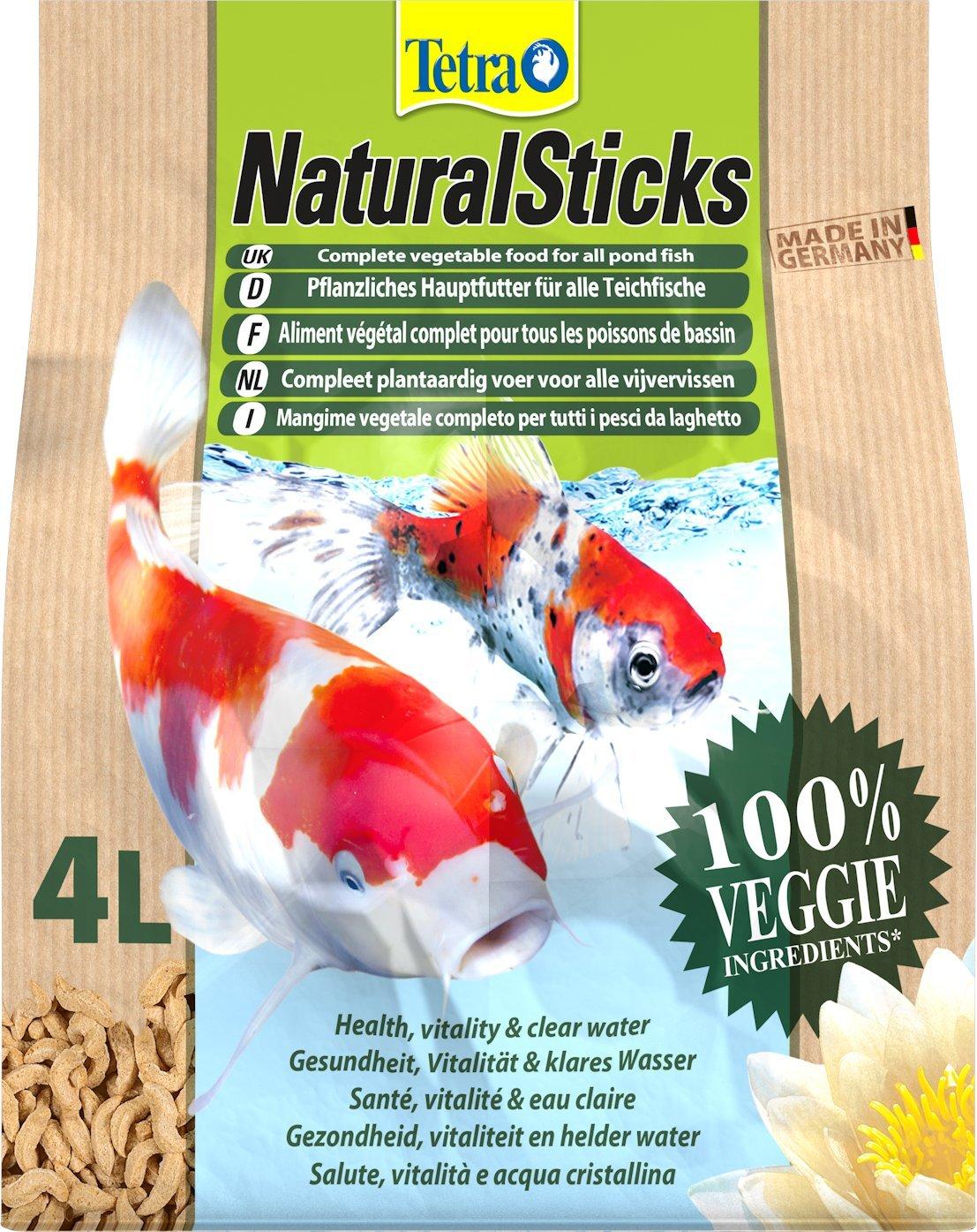 Tetra Pond Natural Sticks Aliment Végétal Complet pour Aquariophilie 4 L T709316