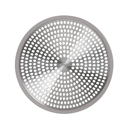 OXO Good Grips Easy Clean Shower Stall Drain Protector   Stainless Steel U0026  Silicone