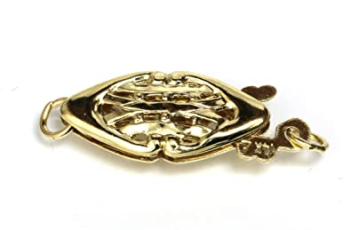 Amazon Com Solid 14kt Filigree Fish Hook Clasp Yellow Gold For
