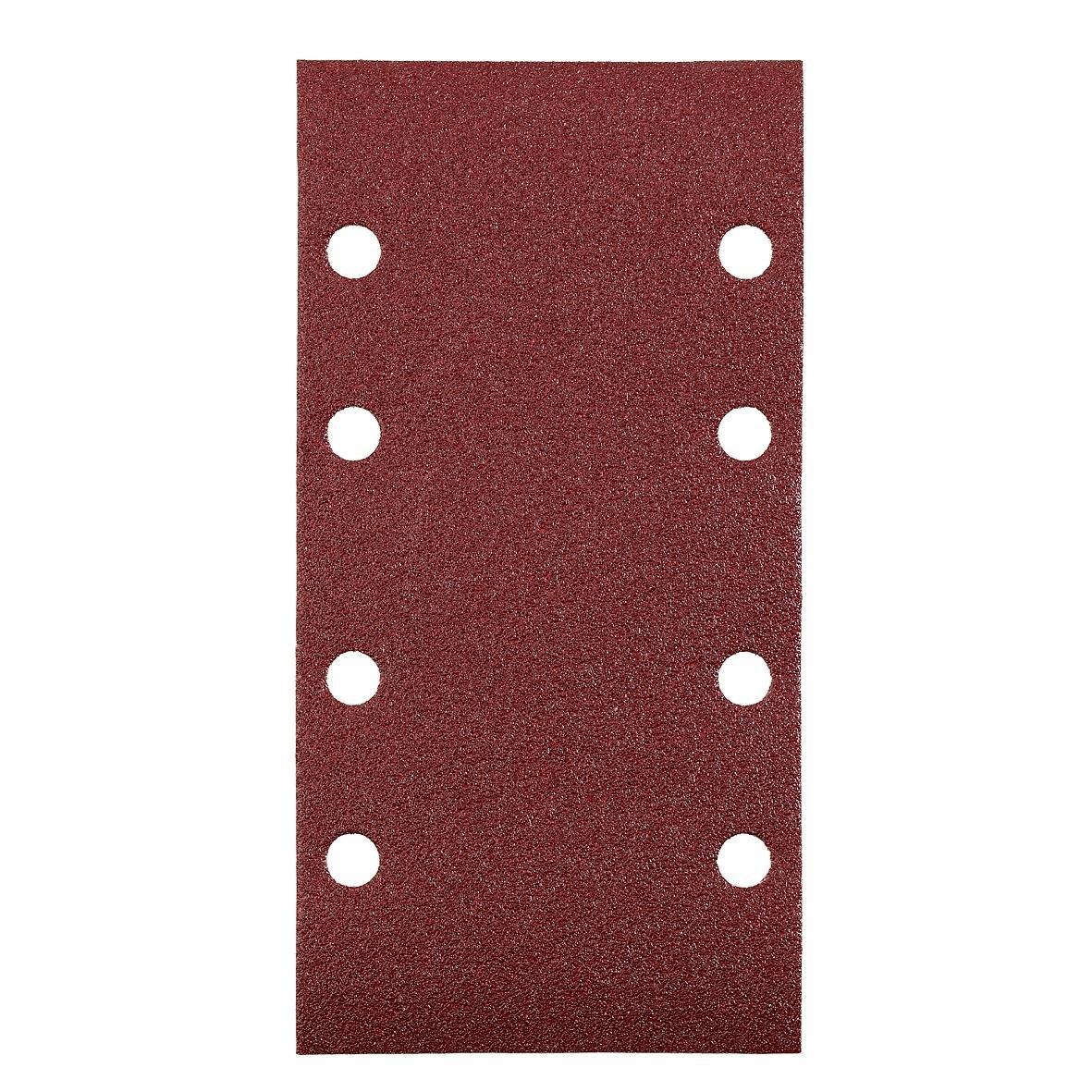 kwb Quick-Stick Schleifpapier – für Schwing-Schleifer K 40, K 60, K 80, K 120 für Holz und Metall, 93 mm x 185 mm, Edelkorund, gelocht mit Klett (15 Stk.) 8183-88