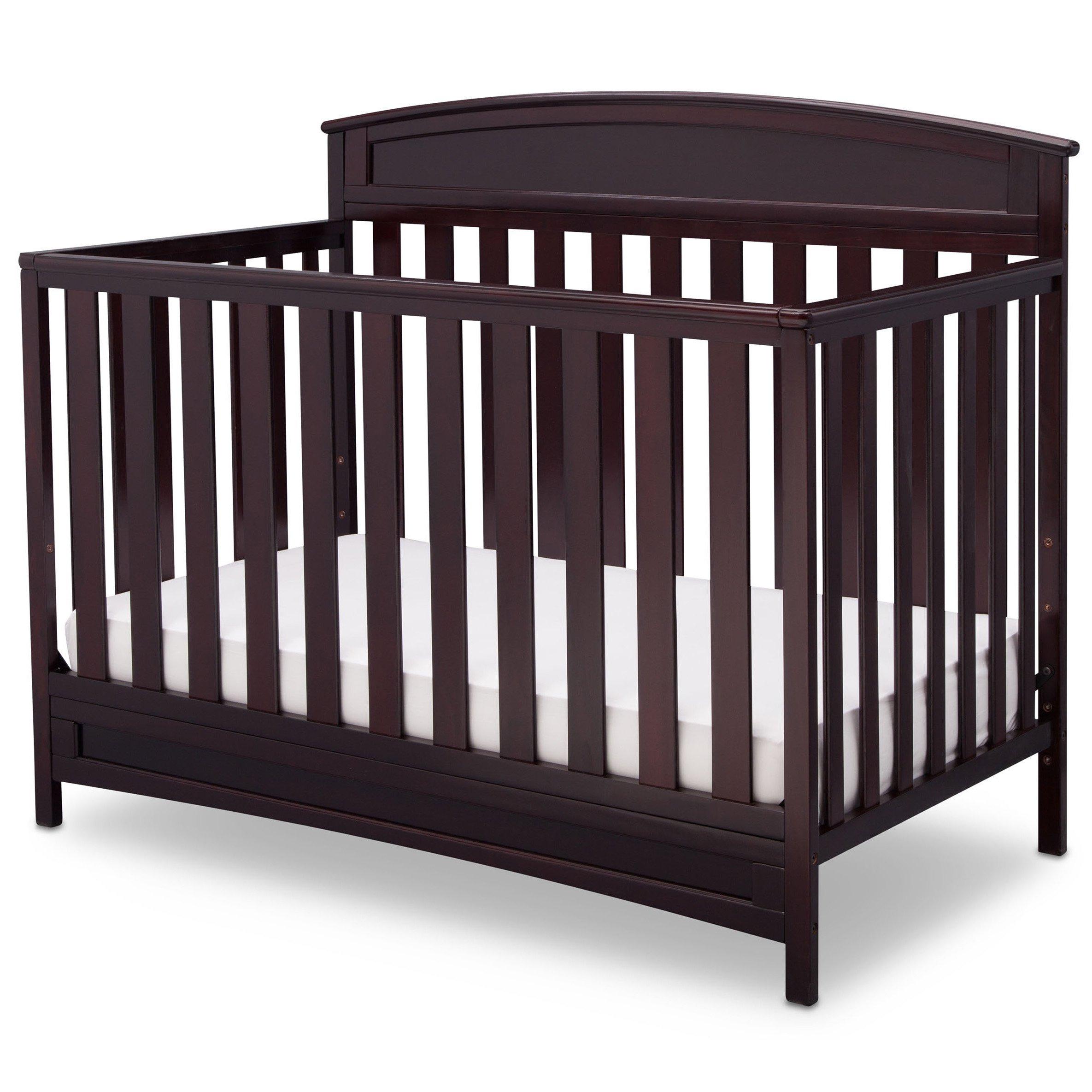 Delta Children Sutton 4 in 1 Convertible Crib, Espresso Java