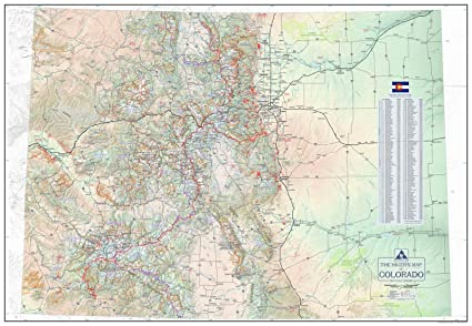 Amazon.com: The Hiker\'s Map of Colorado - Wall Poster Map, by ...