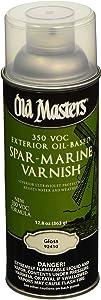 OLD MASTERS 92410 Spar Varnish, 12.8 oz., Gloss