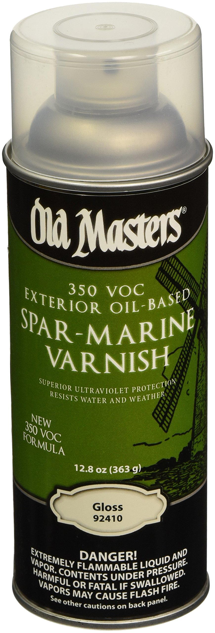 OLD MASTERS 92410 Spar Varnish, 12.8 oz, Gloss