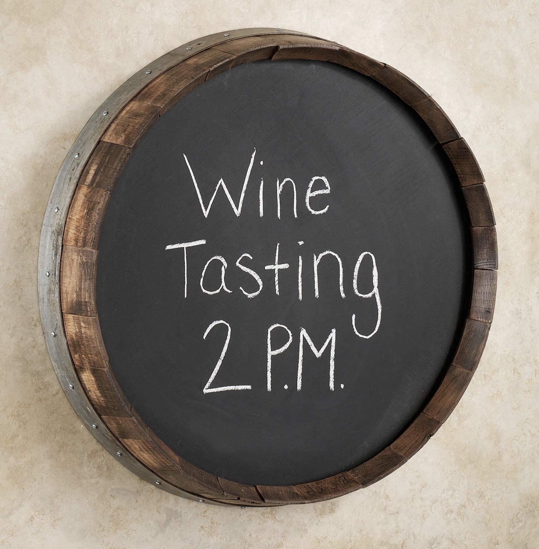 Wine Barrel Chalkboard Walnut by Sono Inspired