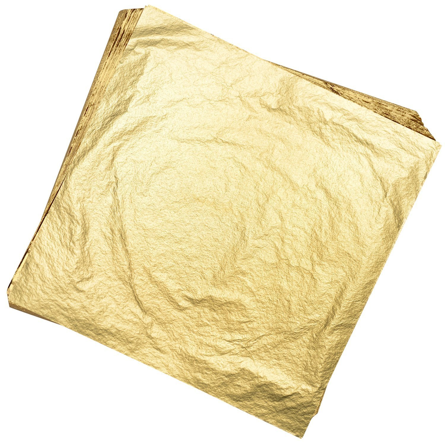 Gold Kixnor 100 Sheets Imitation Gold Leaf for Arts,Gilding Crafting,Decoration,Furniture,5.5 by 5.5 inches
