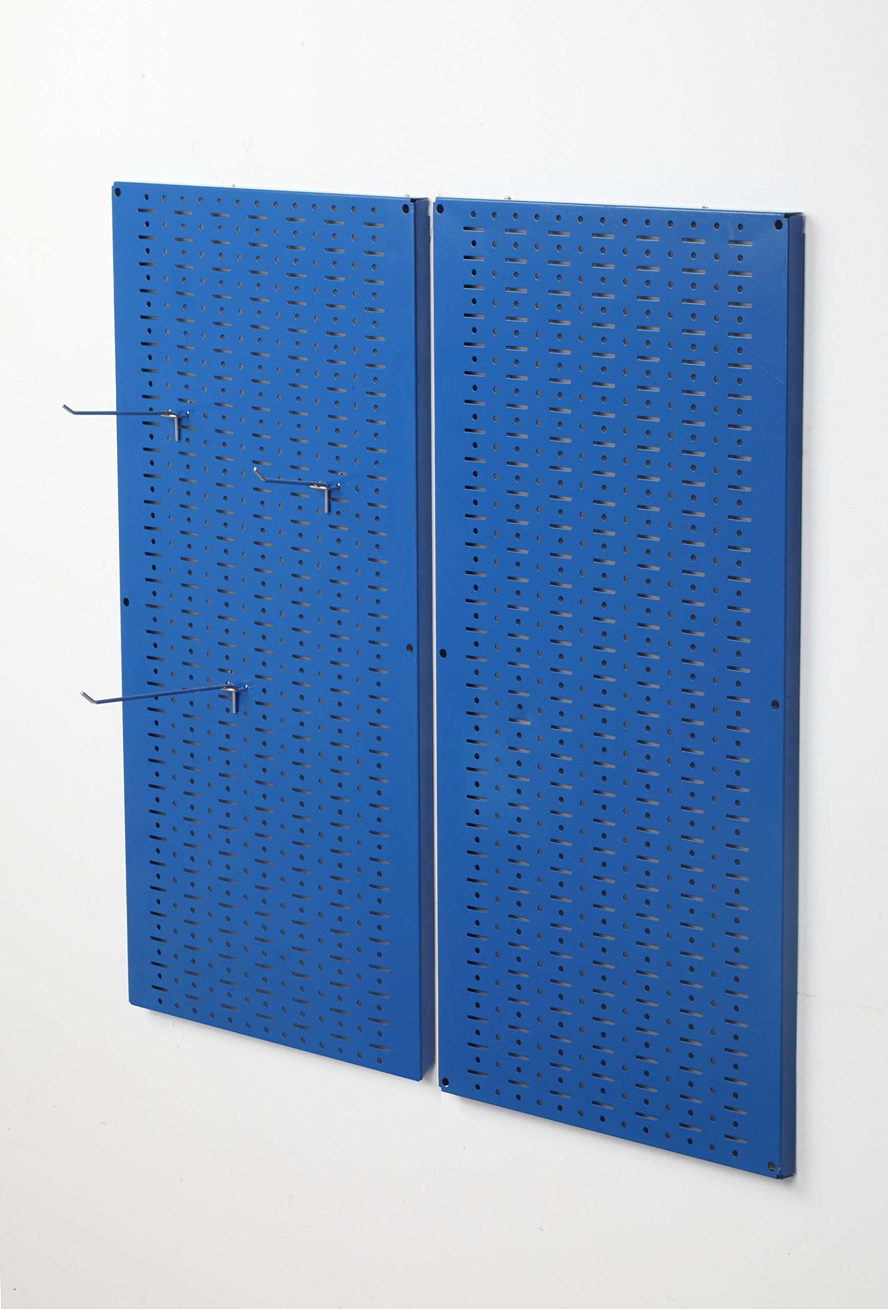 Muscle Rack CPB2-BL Steel Pegboard 2 Pack, Blue, 32'' Height, 16'' Width, 1'' Length
