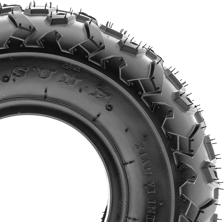 SunF Full Set A014-15 Sport ATV UTV Go Cart Tires 145//70-6 4 Ply Front /& Rear