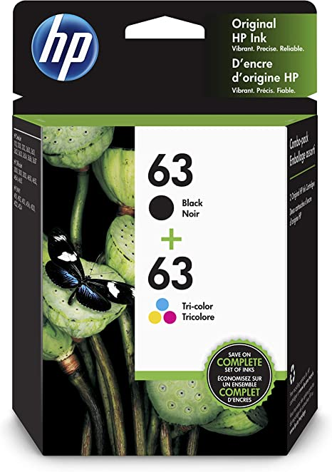 Amazon.com: HP 63 | 2 cartuchos de tinta | Negro, Tricolor ...