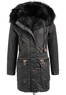 khujo Damen Wintermantel Bijou with Inner Jacket Winter-Steppmantel ... 427803cee1