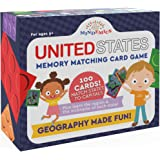 MINDEMICS US State Capitals Match It Game –United States and Capital Cities Flash Cards - Landmark Photos, State Slogans…