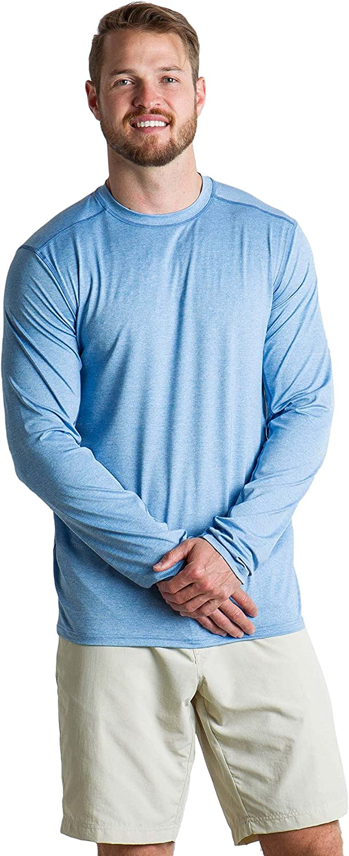 ExOfficio Men's Sol Cool Sun Relaxed Fit Long-Sleeve Crewneck Shirt