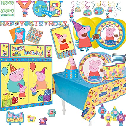 f0b124d809adf Image Unavailable. Image not available for. Color  PEPPA PIG BIRTHDAY PARTY  THEME ...