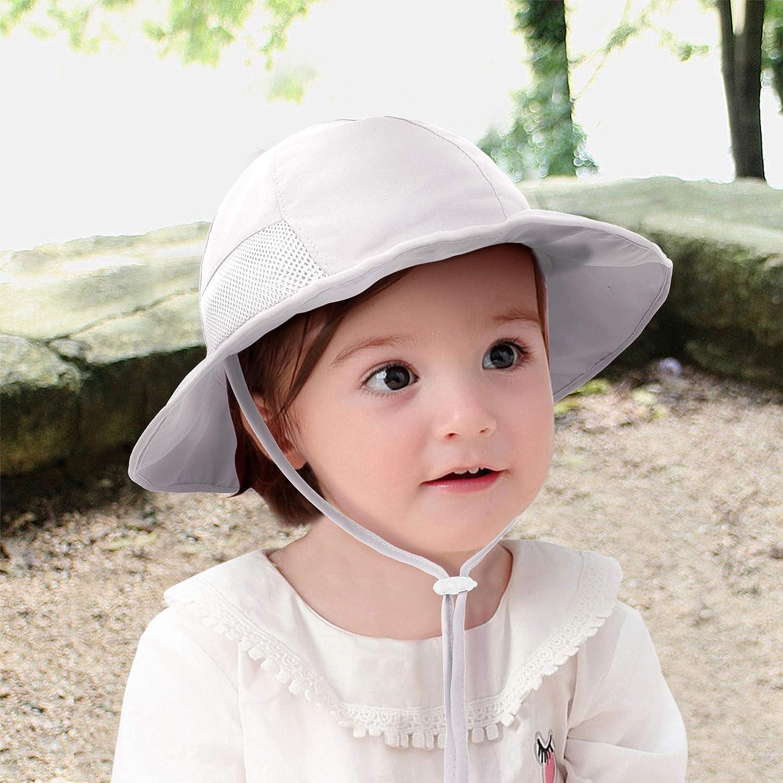 UPF Sun Protective Wide Brim Bucket Hat SimpliKids Sun Hat Baby Toddler Kids 50