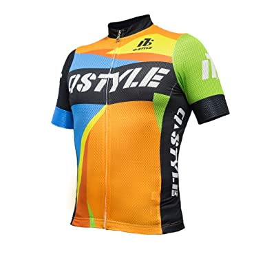 1dbe5b93c7f Image Unavailable. Image not available for. Color  Cycling Jersey Men Short  Sleeve Biking Shirts Breathable Full Zip Bicycle Jacket with Pockets