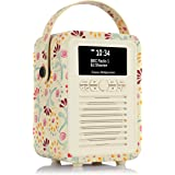 VQ Retro Mini DAB & DAB+ Digital Radio with FM & AM, Bluetooth & Alarm Clock – Emma Bridgewater Buttons, (VQ-Mini-EBBUT…
