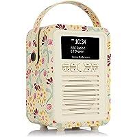 VQ Retro Mini DAB & DAB+ Digital Radio with FM & AM, Bluetooth & Alarm Clock – Emma Bridgewater Buttons, (VQ-Mini-EBBUT…