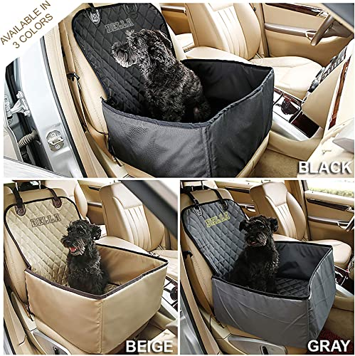 Personalized Dog Car Seat Cover Comes with Seat Belt – 2 in 1 Waterproof Kennel, Comfortable, Durable, Easy to Install and Clean Durable Pet Seat Cover
