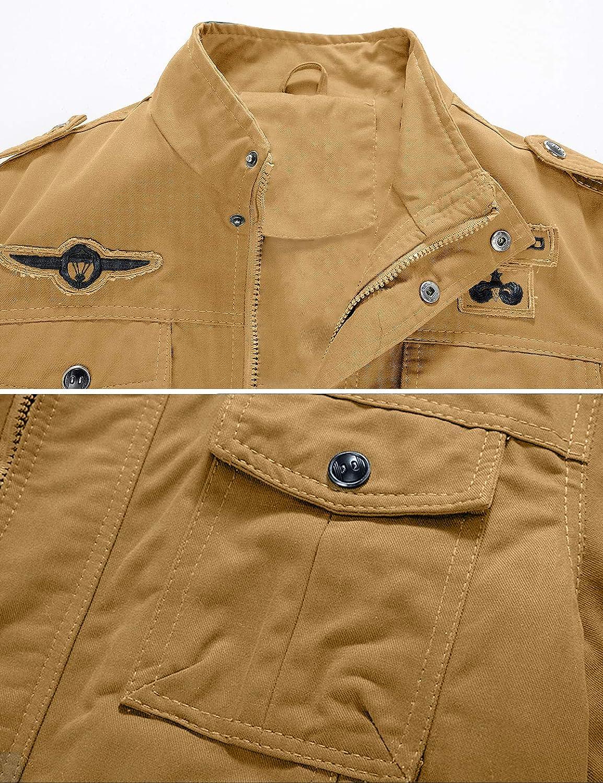 YXP Mens Military Jacket Casual Lightweight Cotton Windbreaker Field Jacket