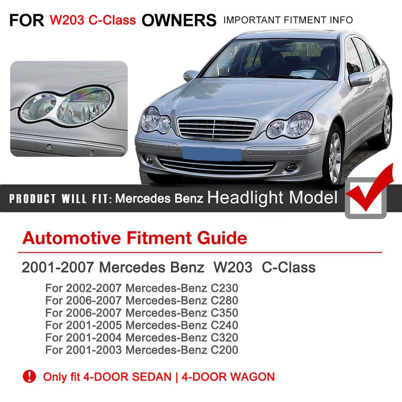 amazon e most left side headlight lens plastic shell cover for 2003 Mercedes Benz E320 amazon e most left side headlight lens plastic shell cover for 2001 2007 4 door mercedes benz w203 c class c230 c280 c350 automotive