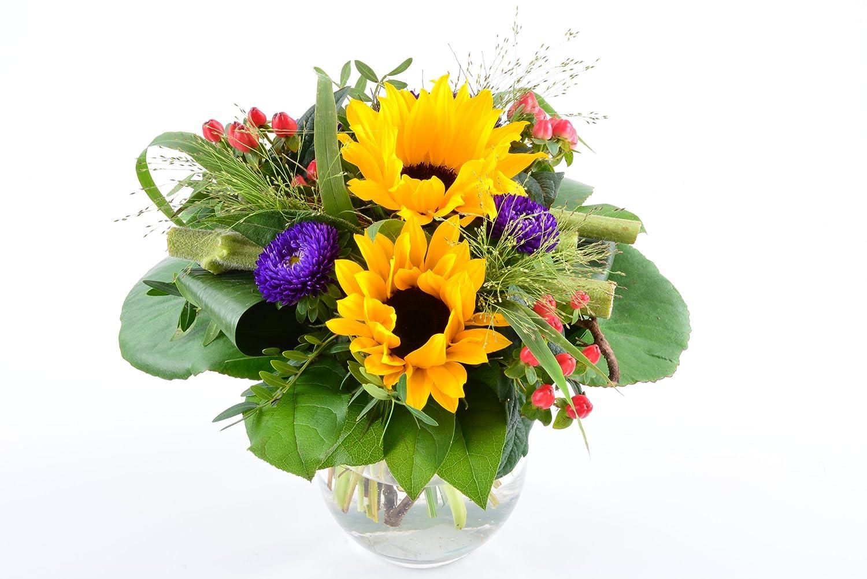 Blumenversand - Blumenstrauß - zum Geburtstag - mit Sonnenblumen - mit Gratis - Grußkarte zum Wunschtermin versenden