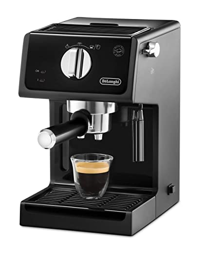 DeLonghi ECP 31.21 Cafetera Independiente, semi-automática, 1100 W, 15 bares, 1,1 L, acero inoxidable, Negro